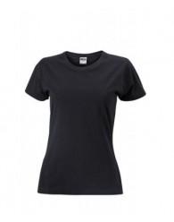 James & Nicholson fekete Női Slim Fit póló